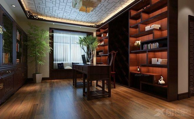 三居室中式风格书房软装