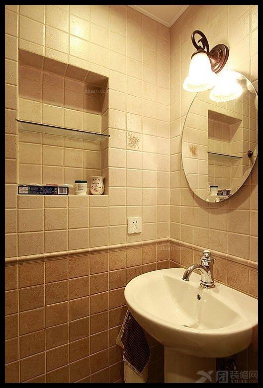 三居室地中海风格卫生间软装