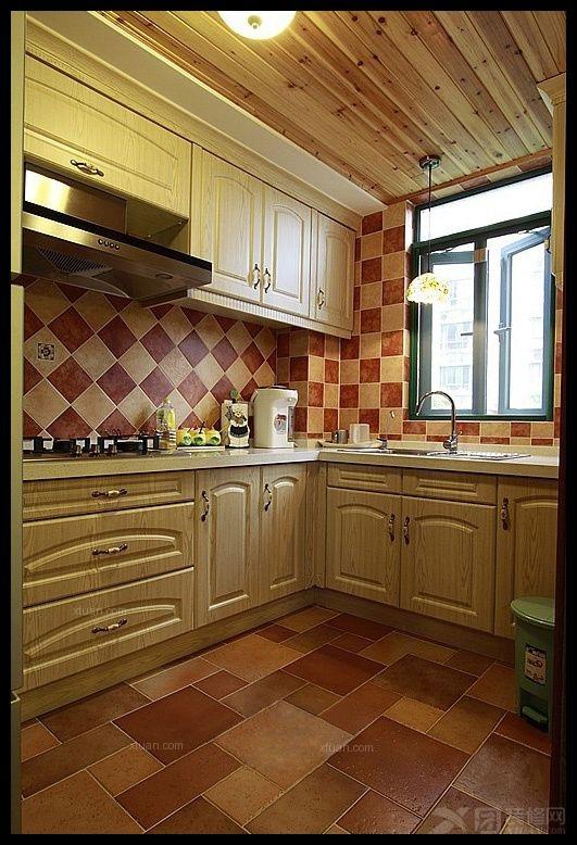 三居室地中海风格厨房软装