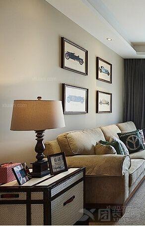 两居室美式风格客厅