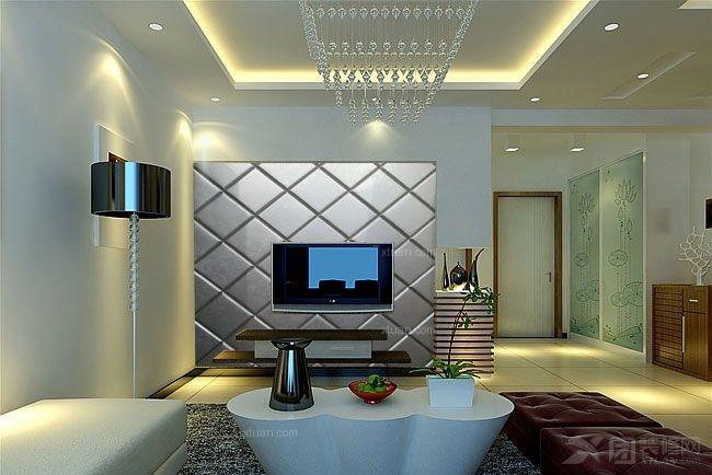 三居室欧式风格卧室电视背景墙_软包背景墙,沙发背景图片