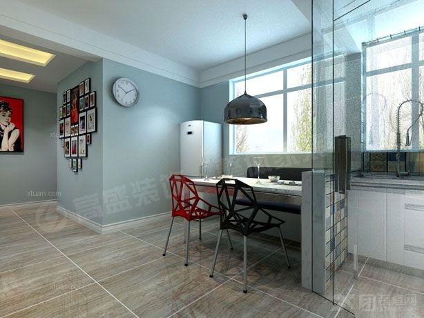 两室一厅现代风格餐厅