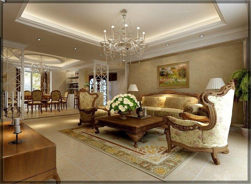 豪华三居室欧式风格——鼎盛创典装饰