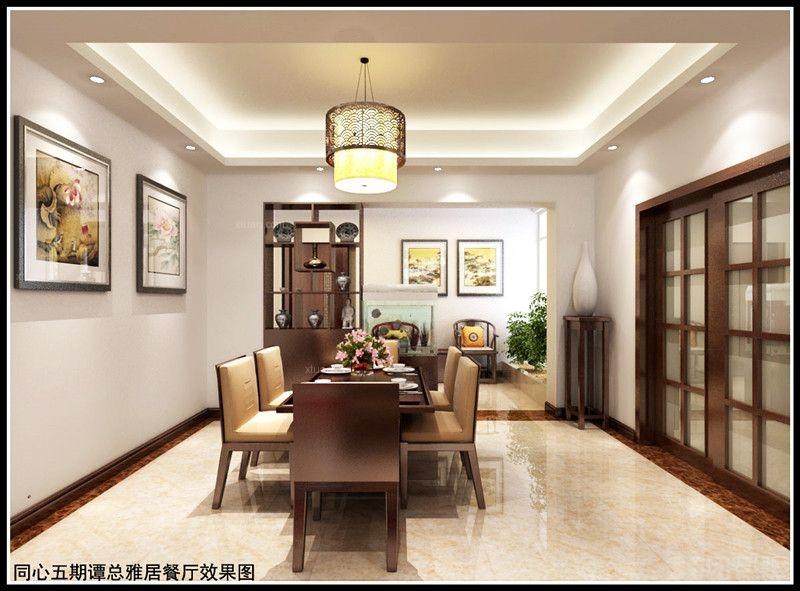 三居室中式风格餐厅照片墙
