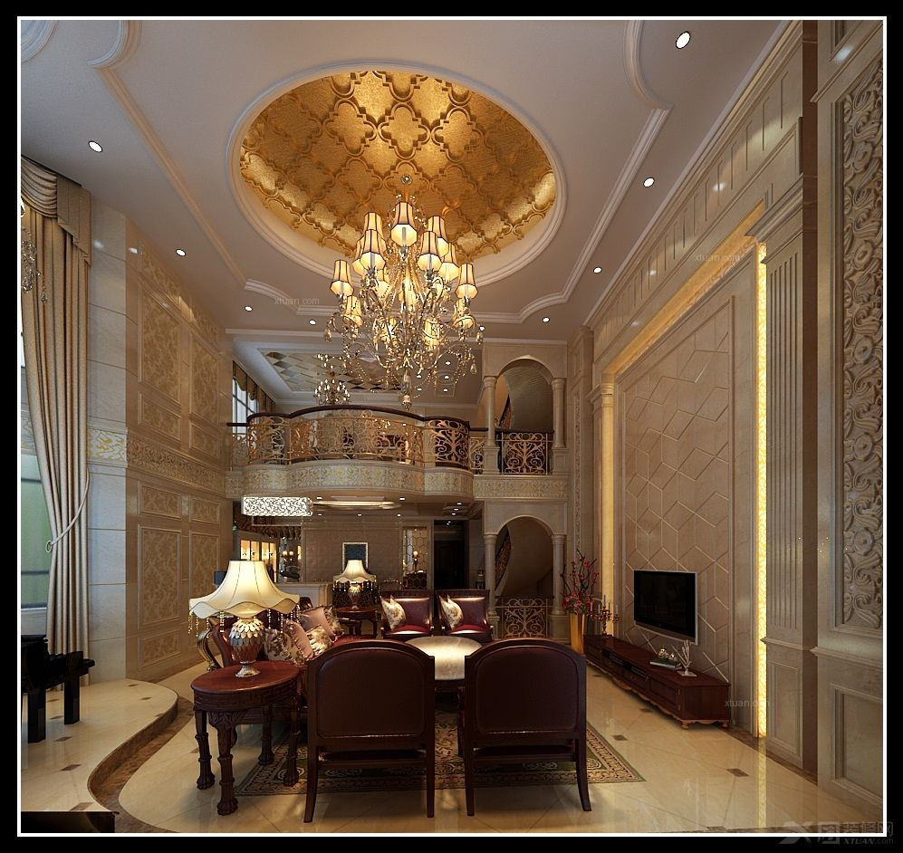 别墅欧式风格主卧室_托斯卡纳装修效果图-x团装修网
