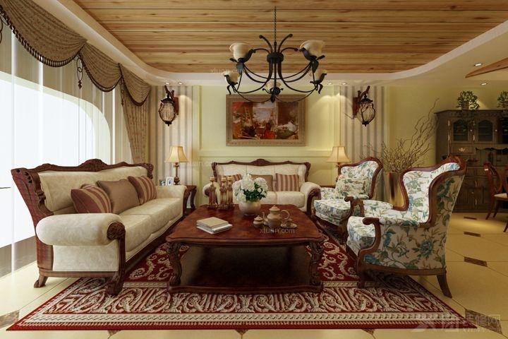 大户型美式风格客厅