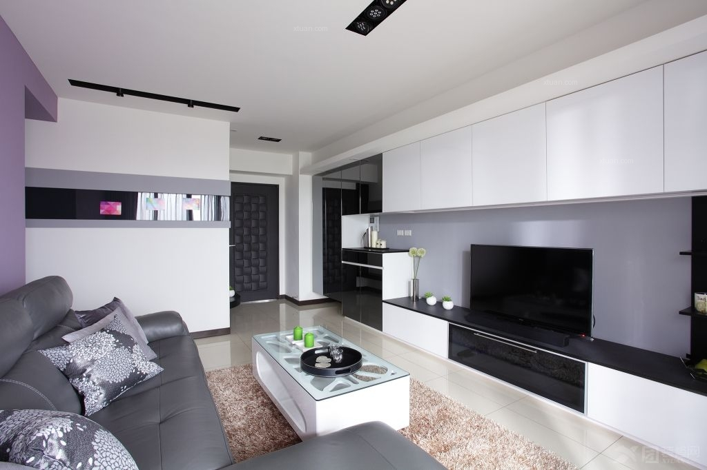 两室一厅现代简约客厅