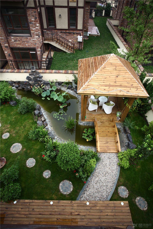 联排别墅欧式花园风格温暖小镇_人心丹麦小镇350入户富力的花园之别墅龙园高新区济南图片
