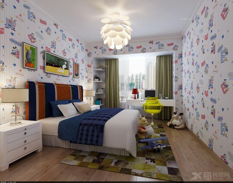 三居室简欧风格卧室