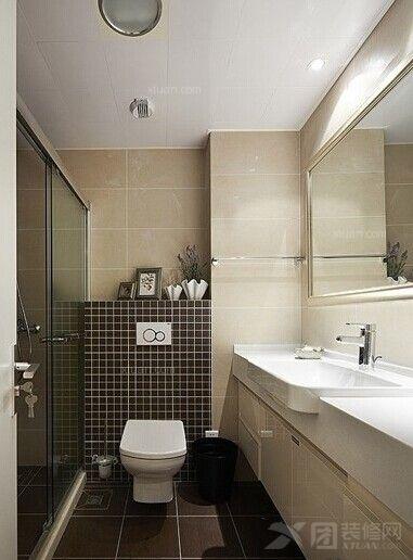 两室一厅现代风格卫生间