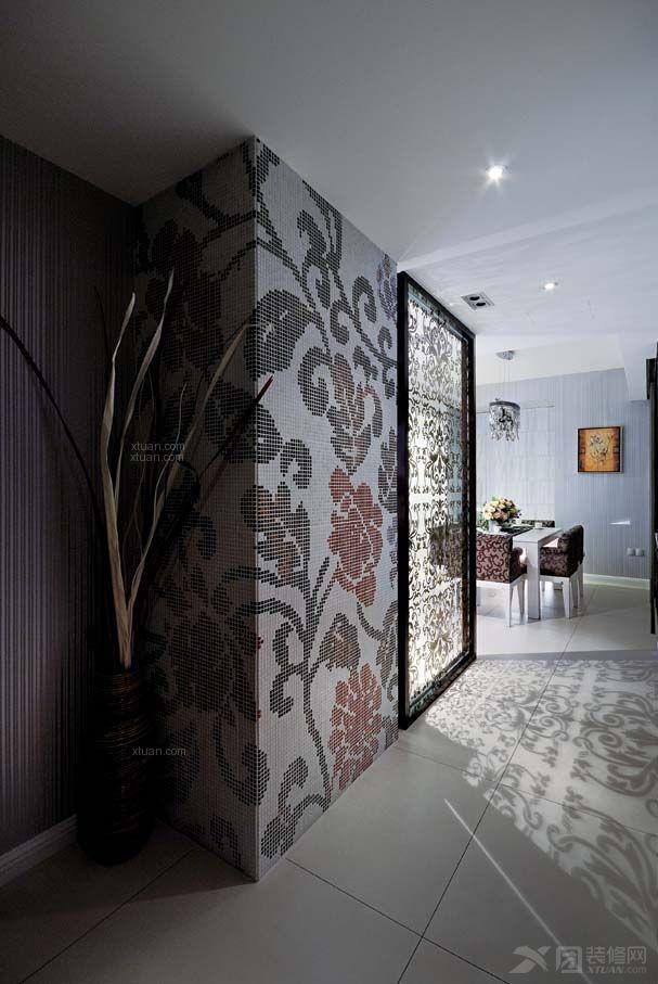 三居室现代简约客厅客厅隔断