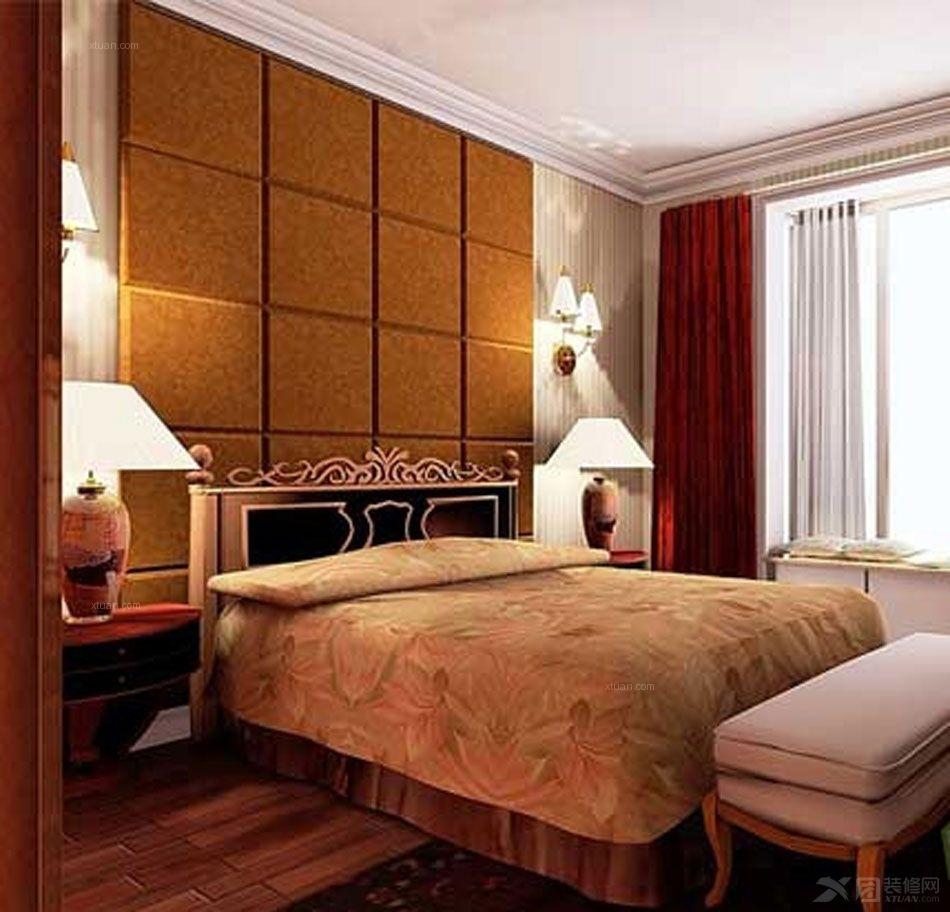 海景别墅现代简约卧室卧室背景墙