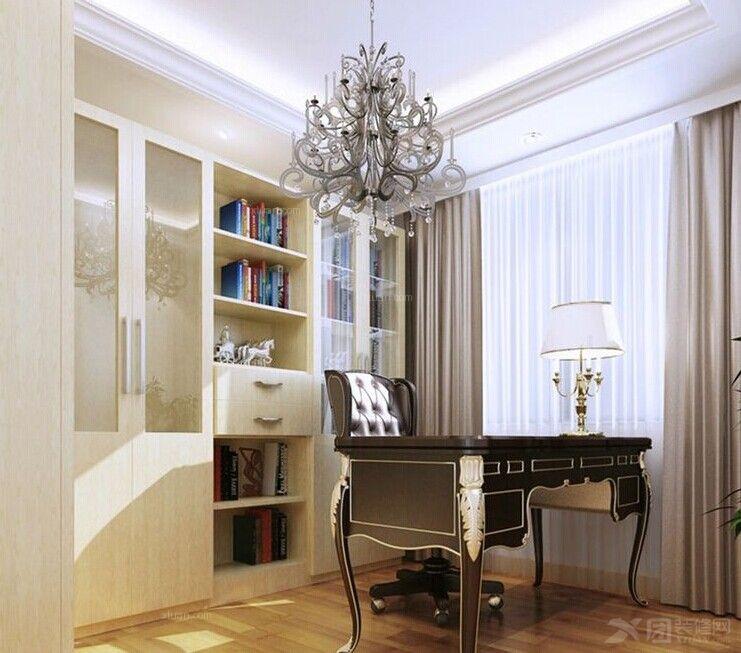 三室两厅现代简约书房