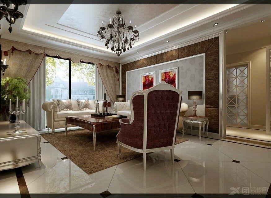 东方维也纳三居室简欧风格——呼市鼎盛创典装饰