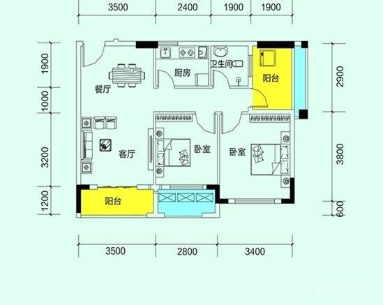 两居室现代简约花园