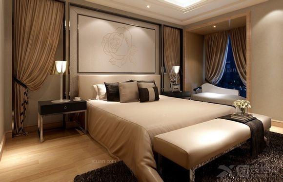 三居室卧室沙发背景墙