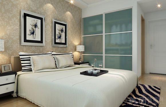 三居室卧室照片墙
