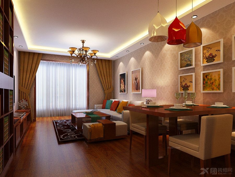 两室一厅东南亚风格餐厅