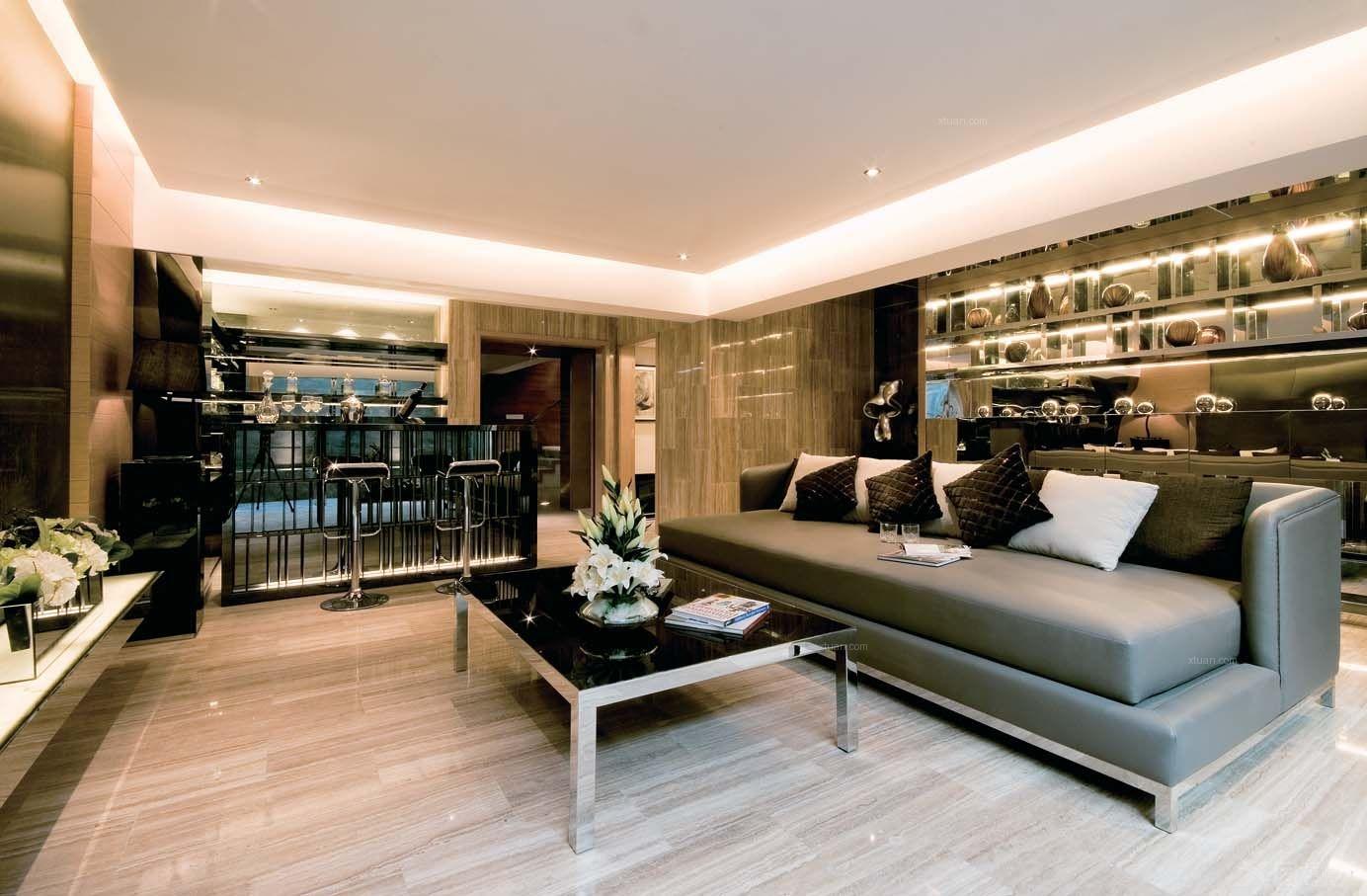 别墅东南亚风格客厅软装_港式风格,今年是否还能流行,龙香空间设计
