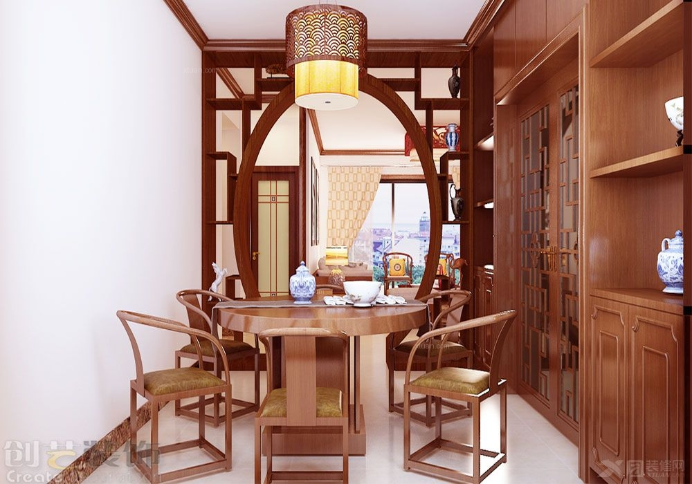 四居室中式风格餐厅