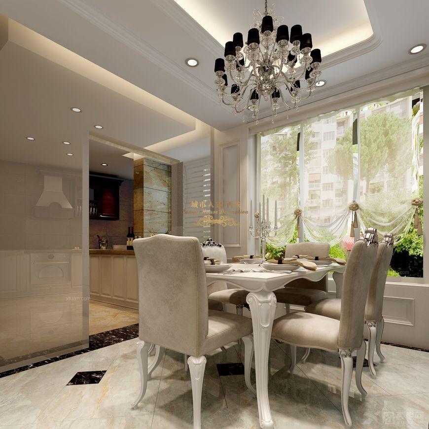 三居室欧式风格餐厅厨具