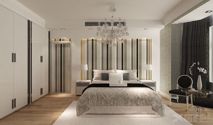 三室两厅现代简约主卧室