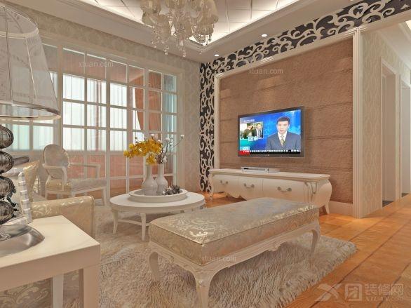 三室一厅混搭风格客厅