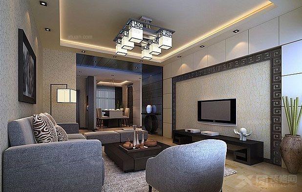 三室一厅中式风格客厅