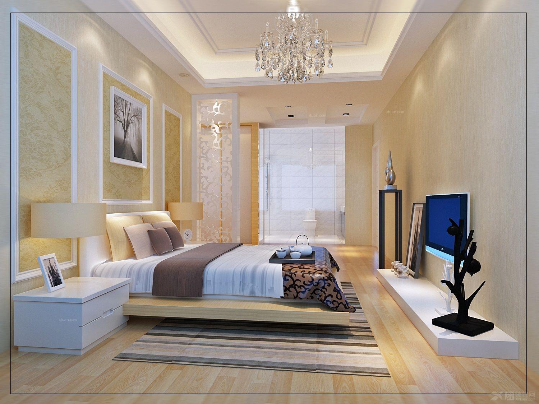 三居室现代简约主卧室_丹霞名城装修效果图