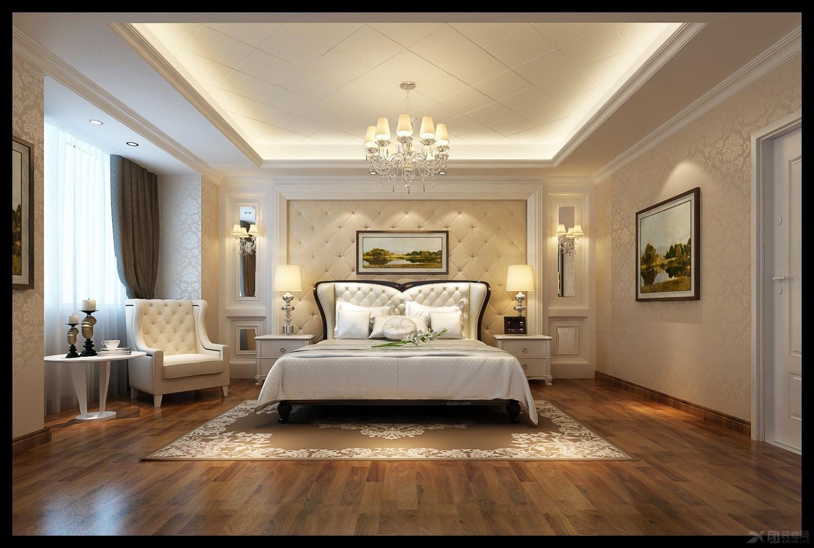 复式楼简欧风格主卧室图片