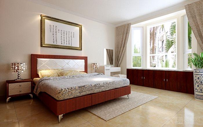 三室两厅中式风格卧室_容郡国际装修效果图-x团装修网图片