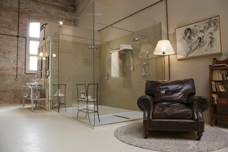 一室一厅现代简约浴室