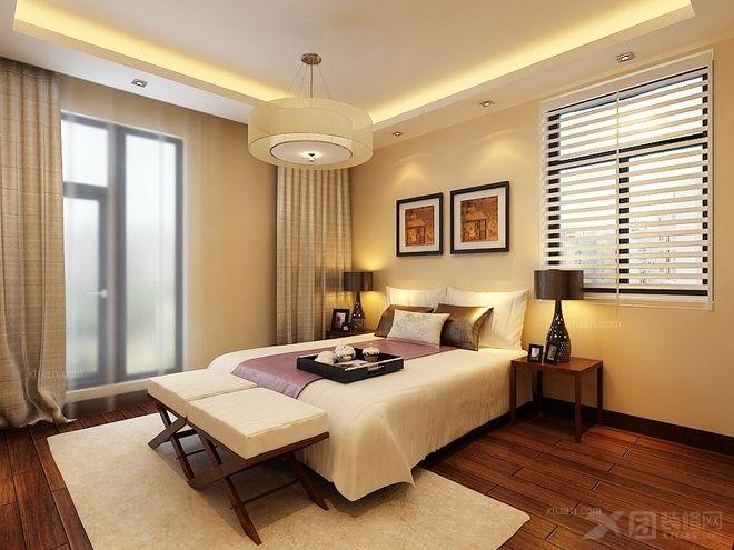 大户型中式风格卧室卧室背景墙