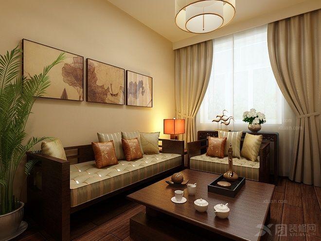 大户型中式风格客厅照片墙
