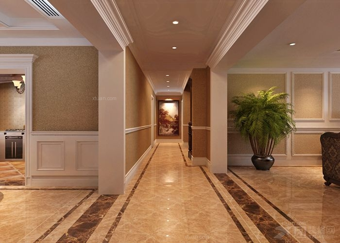 石家庄业之峰装饰-凯莱金第300平米复式美式装修效果图