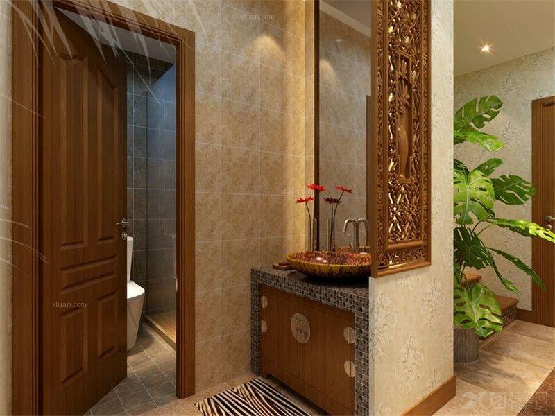 独栋别墅托斯卡纳洗手间隐形门
