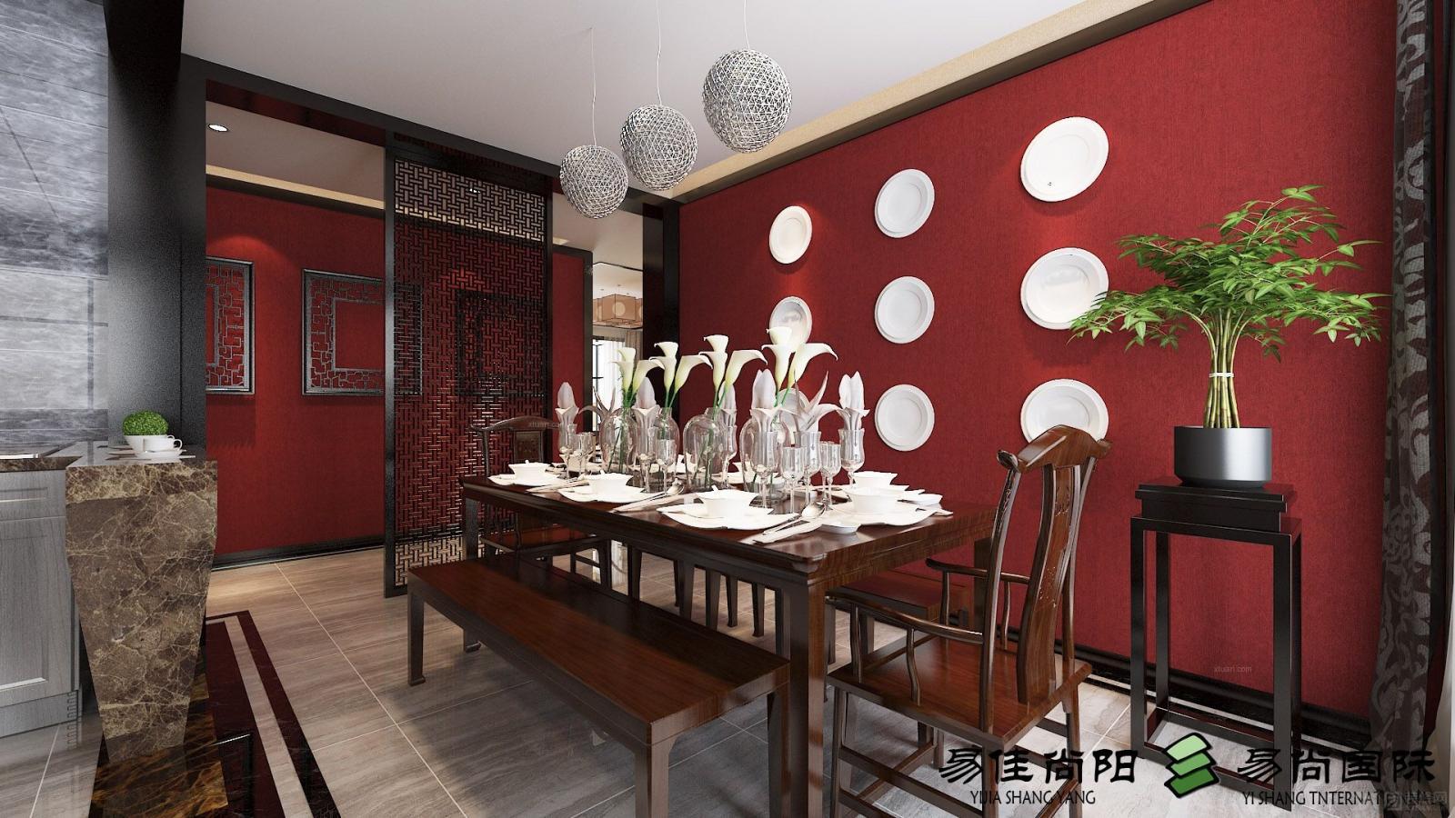 三居室中式风格卫生间_天城一品120㎡装修效果图-x团图片