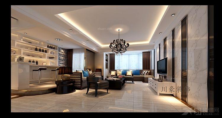 三室两厅现代风格客厅