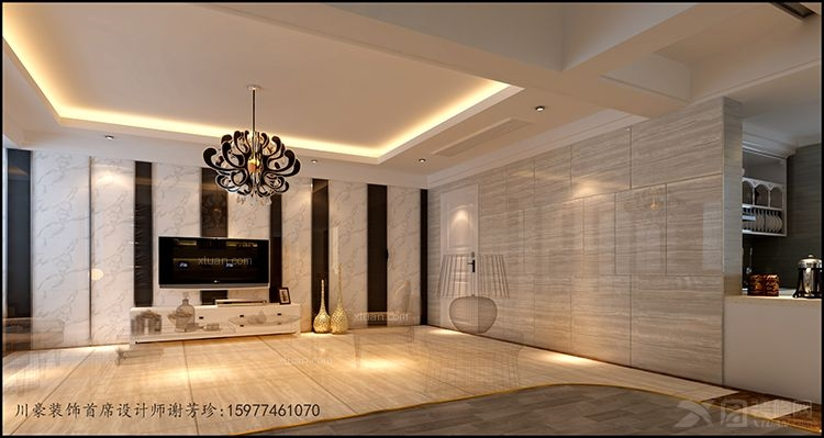 三室两厅现代风格主卧室