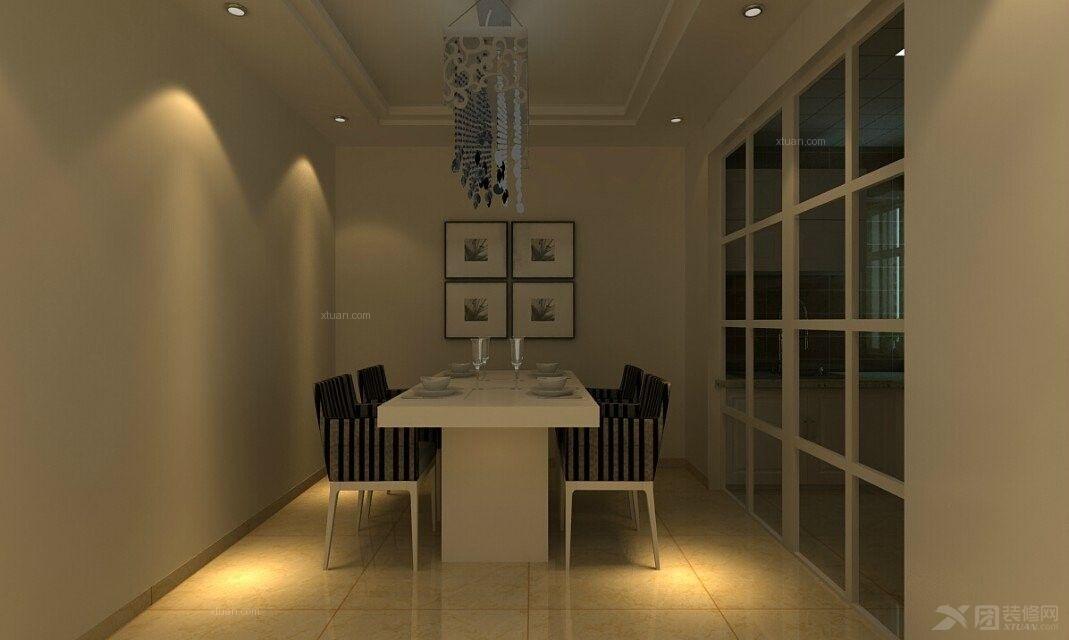 三居室简欧风格餐厅隔断