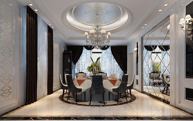 别墅欧式风格餐厅_赣州自建别墅装修效果图-x团装修网