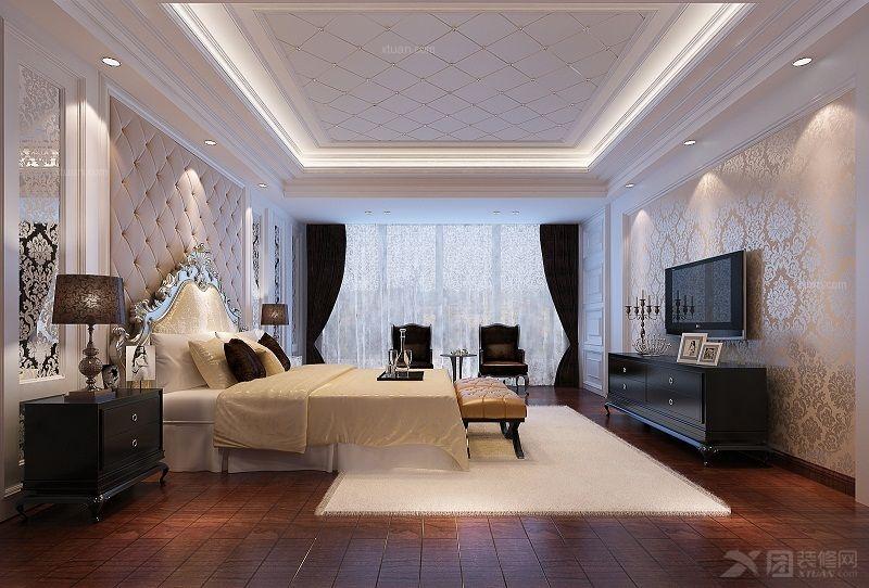 卧室欧式二楼主风格别墅平面CAD别墅布置图图片