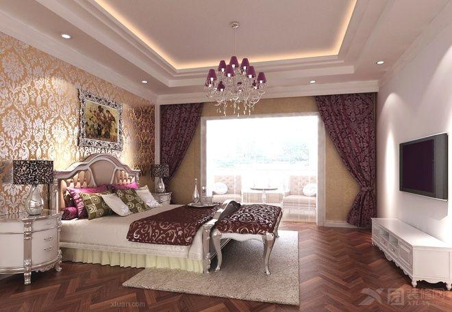 大户型欧式风格卧室卧室背景墙