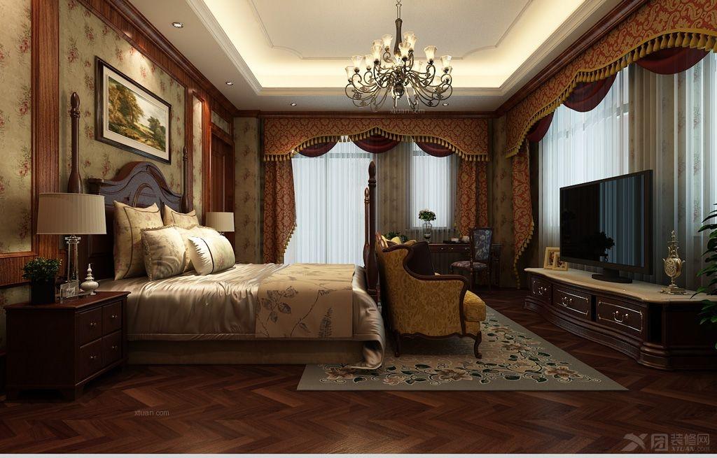 大户型古典风格卧室软装