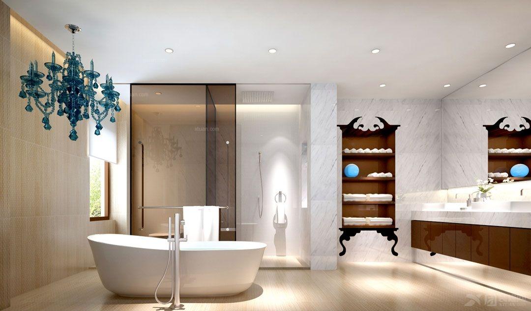 别墅现代简约卫生间软装