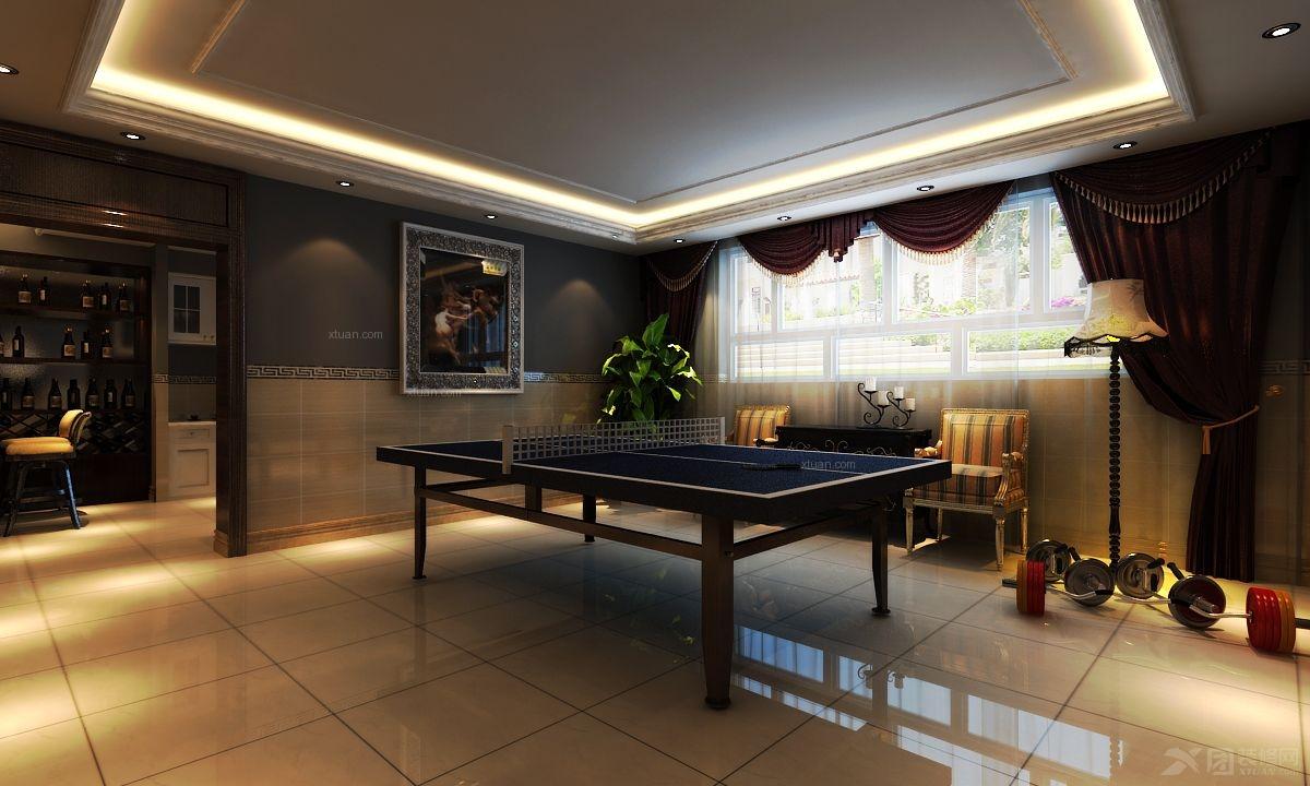 四居室法式风格地下室图片