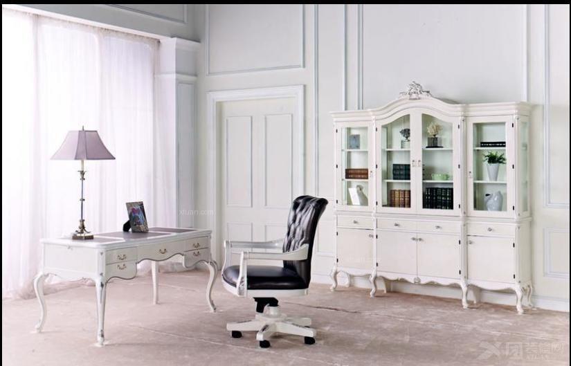 三居室法式风格书房
