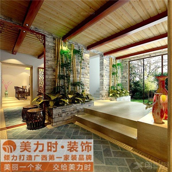 半岛半山580平米别墅中式风格装修设计
