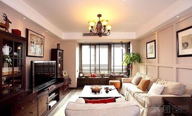 两室一厅田园风格客厅
