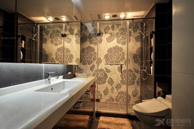 两居室简欧风格洗手间_简欧风格装修效果图-x团装修网